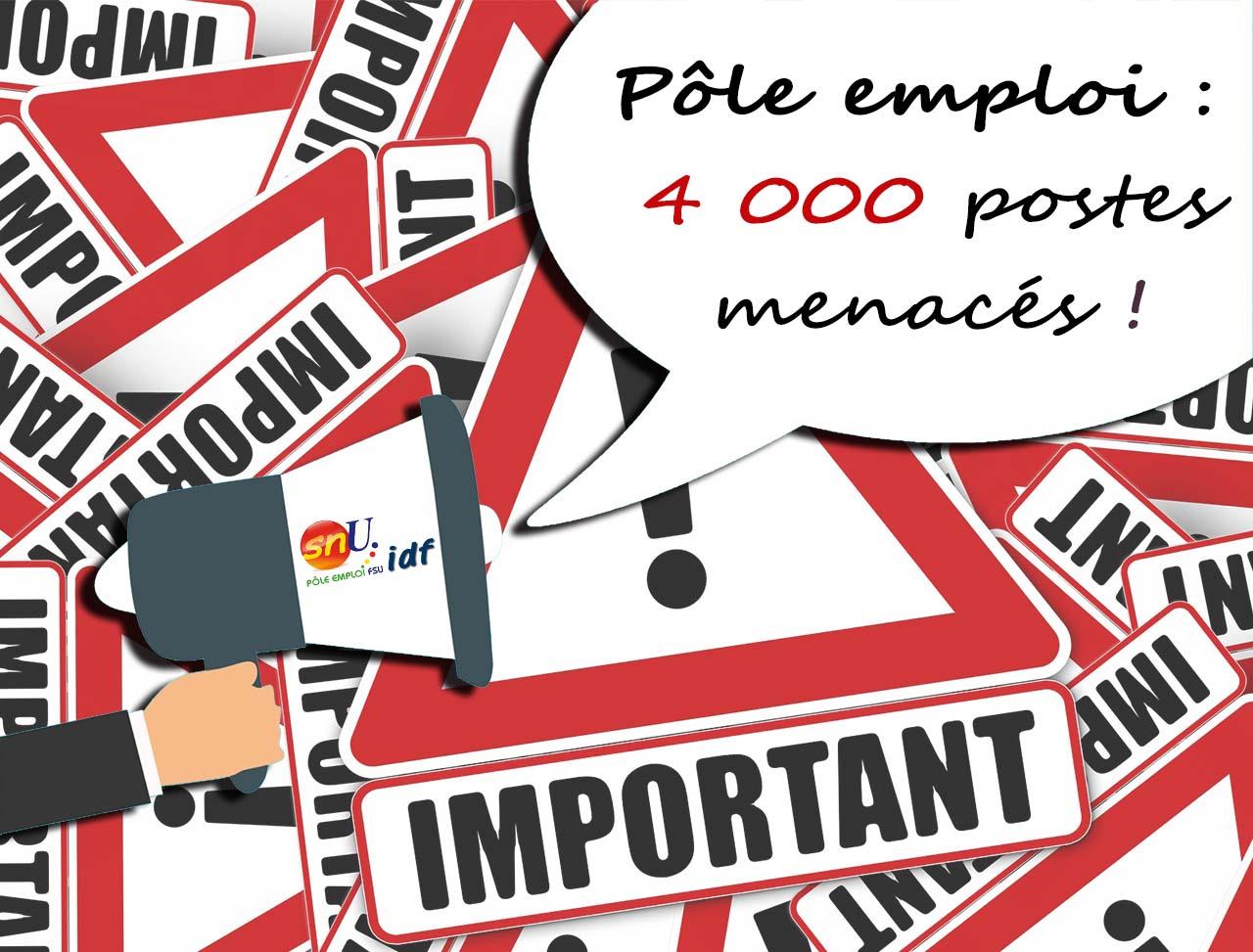 Pôle emploi : 4 000 postes menacés par la baisse du chômage