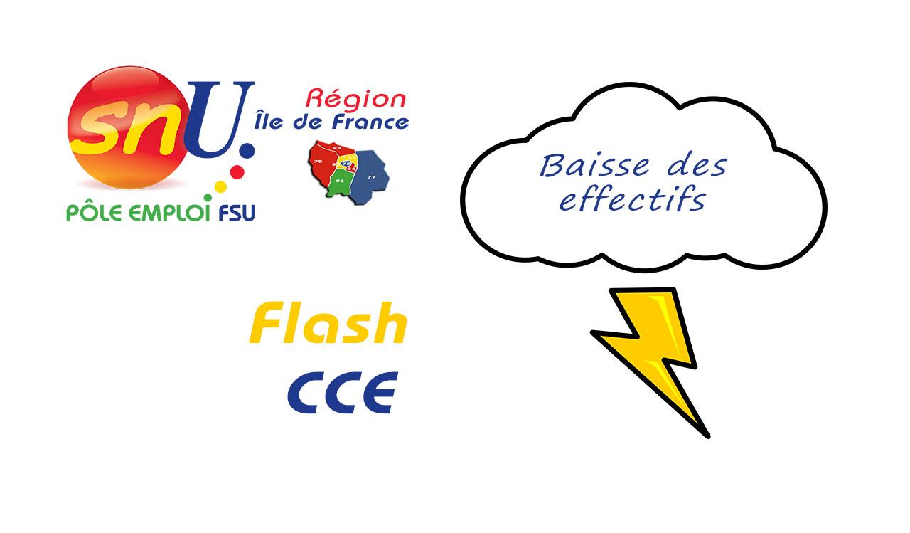 Flash CCE : Baisse des effectifs